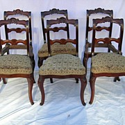 Period Rococo Superbly Crafted, Set of Six Mahogany Dining Chairs