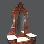 19th Century American Victorian Deep-Well Dresser