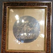 Circa 1890.  Large, Fine Pair of Fancy Oak Framed Victorian Prints