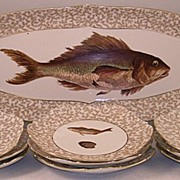 T & V Limoge Fish Set