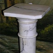 Tall White Marble Column Pedestal