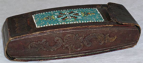 19th Century Russian Hand Beaded Cigar Case