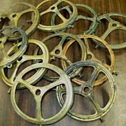 6783 One of Six Lots of Ten Antique Solid Brass 4&quot; Gas Shade Holders Circa 1900