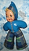 1950's  Plastic Mask  Face Clown/ Doll