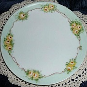 Bavaria Beautiful Yellow Roses Plate