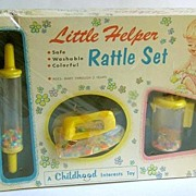 SALE Little Helper Rattle Set 1950's New in Box