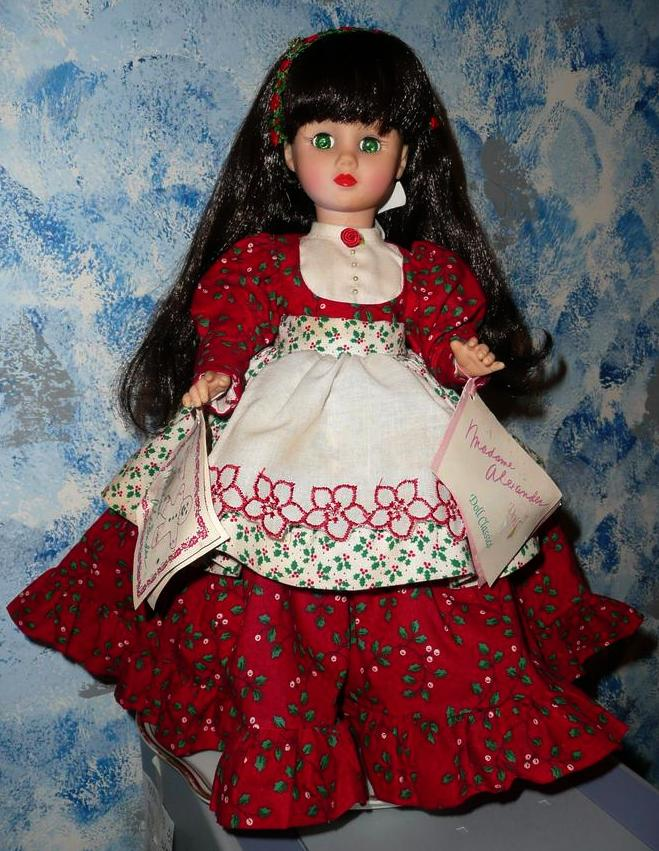 "1992 Madame Alexander 15""  'Country Christmas' Doll"