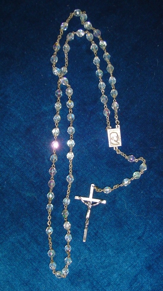 Aurora Borealis  Beads Pope  Paul VI  Roman Catholic Rosary
