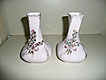 Leftons Twin Set of  Forget-me Nots  Pink Vases