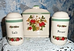 Strawberries Set of Napkin Holder and Shakers