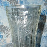 Tall Pressed Clear Glass Candle Holder