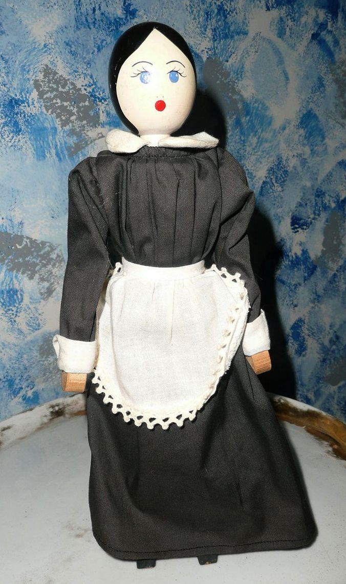 "11""  Wood  Peg Doll"