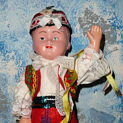 "12"" Old  Polish Boy dressed  with Folklore Costume"
