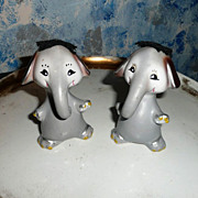 Funny Elephants Salt and Pepper Shakers Set