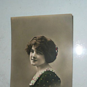 Beautiful English Hand-Painted Post Marked Post Card *1915