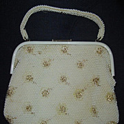Reversible Bubble/Dots 1950's  Purse