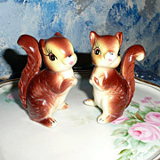 Kenmar Set  of Squirrels Salt and Pepper Shakers