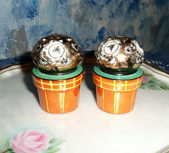 Flower Pots Sets of Salt and Pepper Shakers