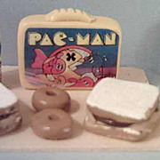 Vintage Miniature  Pac-Man  Lunch Box Set *1970's