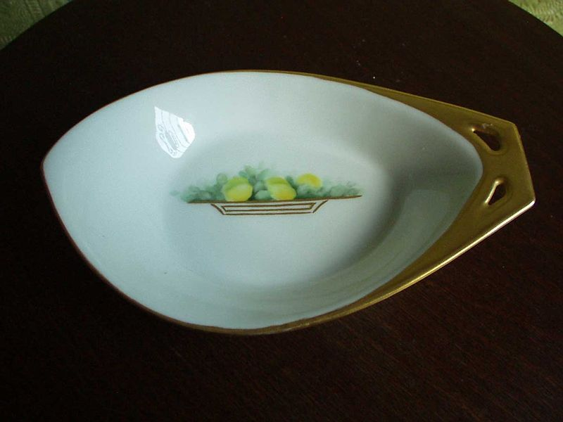 German Porcelain  Lemon Dish