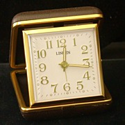Vintage �Linden� Travel Alarm Clock, Mechanical, Works!