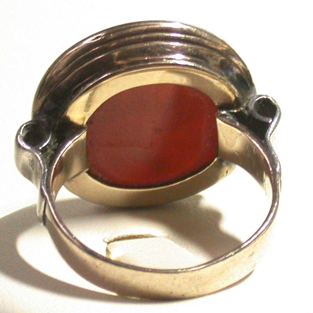 antique carnelian intaglio ring late 18th century size 8