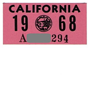 Vintage California Sticker 1968