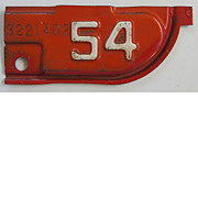 California License Plate Tab, 1954