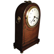 Good Edwardian Mahogany Mantle Carriage Clock in the Regency Taste