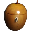 19th c. English Wood Apple Form Tea Caddy
