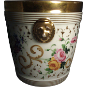 19th c. Old Paris Porcelain Cache Pot Planter or Flower Pot