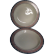 Pair 18th c. Wedgwood Creamware Etruscan Pattern Soup Plates 1785 - 1790