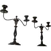 Fine 19th century Regency Old Sheffield Silver Plate Candelabra