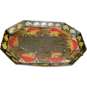 Fine Early 19th c. American Federal Paint Decorated Tole Tray 1820