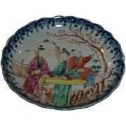 18th Century Chinese Porcelain Tea Bowl Court Scene