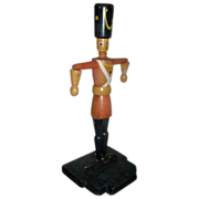 Early 20th c. German Carved Wood Paint Decorated Christmas Soldier from the Ballet Nutcracker