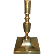 A Good 18th Century English Brass Candlestick