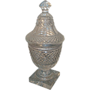 19th century Regency Anglo Irish Cut Glass Urn