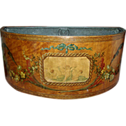 Adam Satinwood and Paint Decorated Flower Box or Planter for the Table with Zinc Liner ...