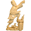 19th c. Chinese Carved Ivory Figure of a Fisherman and Dog