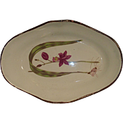 Late 18th c. Shorthose Botanical Pearlware Dessert Dish c. 1800