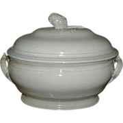 Fine Antique 18th century Pont-Aux-Choux Creamware Soup Tureen