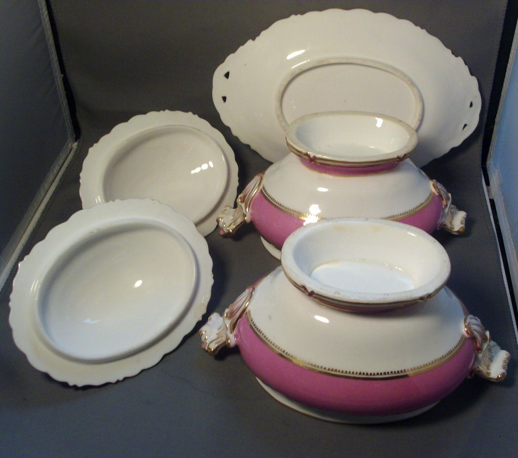 Antique 19th Century English Rockingham Porcelain Pink