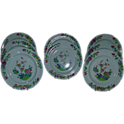Set 8 Early 19th c. Spode Stone China Imari Dinner Plates
