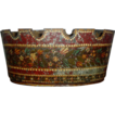 Early 19th century French Tole Monteith with Original Paint Decorated Surface