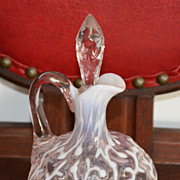 Opalescent Seaweed Cruet  EAPG