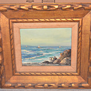 Oil California Coast Signed Phillips
