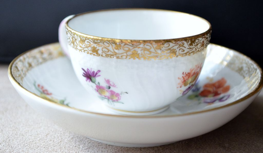 KPM Porcelain Cup & Saucer