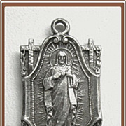 Catholic Sterling Silver Medal Sacred Heart of Jesus