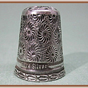 Thimble Sterling Silver Engraved